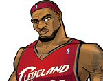 Photo of Lebron James II Concept Illustration for his upcoming Upper Deck All Star Vinyl Action Figure