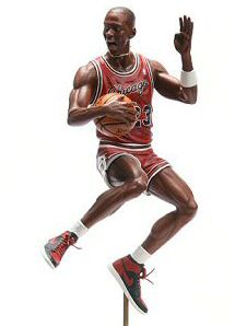 Prototype of Pro-Shots Michael Jordan figure from Upper Deck.
