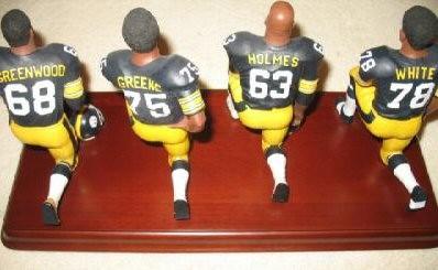 Steelers Steel Curtain   Mean Joe Greene, Ernie Holmes, Dwight White, L. C.  Greenwood   Danbury Mint NFL